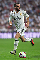 Daniel Carvajal of Real Madrid during the match between Real Madrid v Atletico Madrid of LaLiga, date 7, 2018-2019 season. Santiago Bernabéu Stadium. Madrid, Spain - 29 SEP 2018.