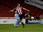 James Hanson of Sheffield United in action during the English League One match at the Bramall Lane Stadium, Sheffield. Picture date: April 5th, 2017. Pic credit should read: Jamie Tyerman/Sportimage