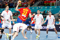 Spain and Croatia during 23rd Men's Handball World Championship preliminary round match, in the pic: Angel Montoro Cabello. January 19 ,2013. (ALTERPHOTOS/Caro Marin) /NortePhoto