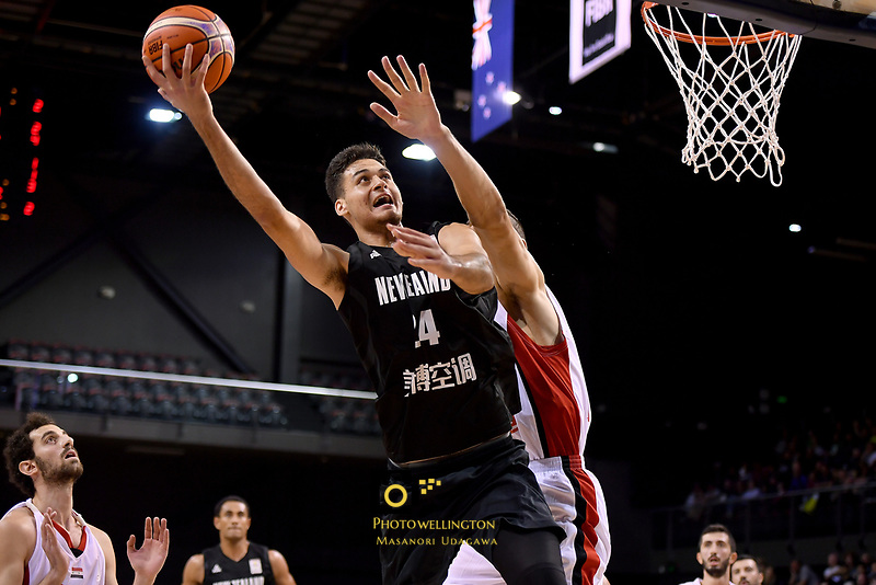 New Zealand Tall Blacks&rsquo; Tyrell Harrison in action during the FIBA World Cup Basketball Qualifier - NZ Tall Blacks v Syria at TSB Bank Arena, Wellington, New Zealand on Sunday 2 2018. <br /> Photo by Masanori Udagawa. <br /> www.photowellington.photoshelter.com