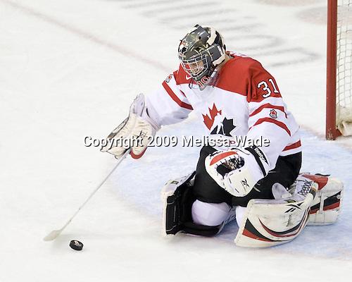 Martin Jones (Canada - 31) - Team Canada defeated Team Slovakia 8-2 on Tuesday, December 29, 2009, at the Credit Union Centre in Saskatoon, Saskatchewan, during the 2010 World Juniors tournament.