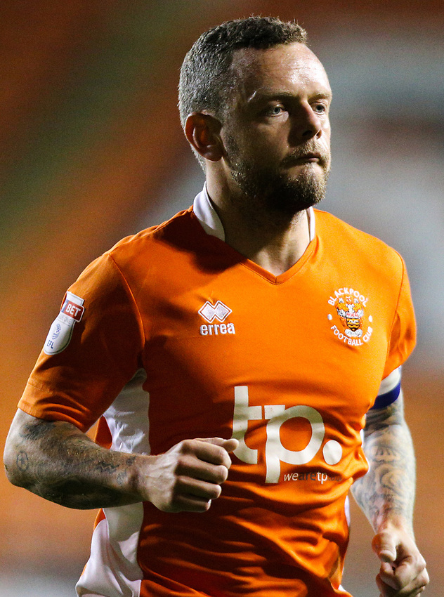 Blackpool's Jay Spearing<br /> <br /> Photographer Alex Dodd/CameraSport<br /> <br /> The EFL Sky Bet League One - Blackpool v Gillingham - Tuesday 21st November 2017 - Bloomfield Road - Blackpool<br /> <br /> World Copyright &copy; 2017 CameraSport. All rights reserved. 43 Linden Ave. Countesthorpe. Leicester. England. LE8 5PG - Tel: +44 (0) 116 277 4147 - admin@camerasport.com - www.camerasport.com