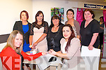 Laura O'Connor(seated Rt)owner of the new shop The Nail bar,at 18 Castle St,Tralee works on Fidelma Ginty lovely hands at the official opening of her shop last Saturday evening,also pictured were(Back)L-R Katie&Cora Brosnan,Norma O'Connor,Hannah Brosnan&Helen O'Connor.