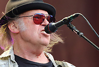 Neil Young performs on stage at London's Hyde Park on July 12th 2019<br /> <br /> Photo by Keith Mayhew