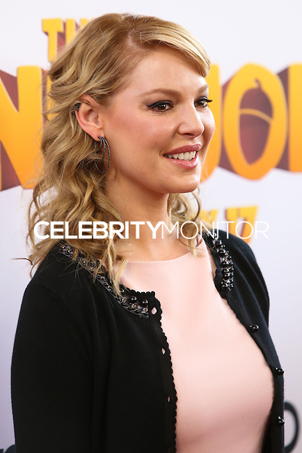 "LOS ANGELES, CA - JANUARY 11: Actress Katherine Heigl arrives at the World Premiere Of Open Road Film's ""The Nut Job"" held at Regal Cinemas L.A. Live on January 11, 2014 in Los Angeles, California. (Photo by Xavier Collin/Celebrity Monitor)"