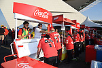 Coca-Cola stand,<br /> JUNE 26, 2014 - Football / Soccer :<br /> Fans buy beverages at a drink stand before the FIFA World Cup Brazil 2014 Group H match between South Korea 0-1 Belgium at Arena de Sao Paulo in Sao Paulo, Brazil. (Photo by SONG Seak-In/AFLO)