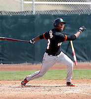 Francisco Peguero - San Francisco Giants - 2009 spring training.Photo by:  Bill Mitchell/Four Seam Images