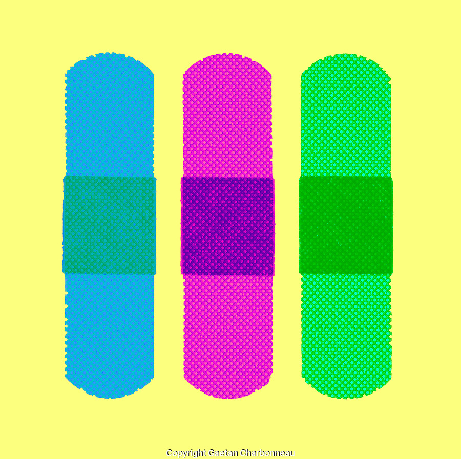 Three adhesive bandages