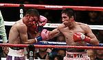 Antonio De Marco gano por Knockout tecnico en el asalto No 11 y se corono campeon ligero de la CMB