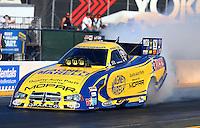Jul. 26, 2013; Sonoma, CA, USA: NHRA funny car driver Matt Hagan during qualifying for the Sonoma Nationals at Sonoma Raceway. Mandatory Credit: Mark J. Rebilas-