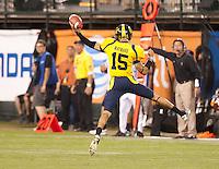 San Francisco, CA - October 13, 2011: Cal quarterback Zach Maynard (15). Cal Bears vs USC at AT&T Park in San Francisco, California. Final score Cal Bears 9, USC 30.