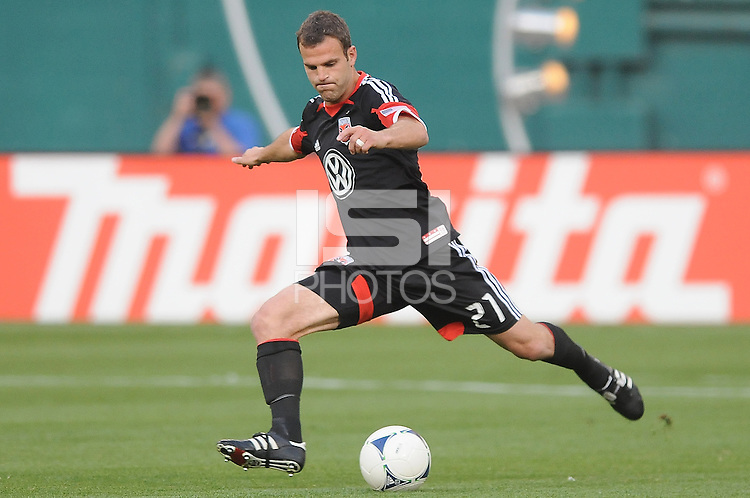 D.C. United defender Daniel Woolard (8) D.C. United defeated Toronto FC 3-1 at RFK Stadium, Saturday May 19, 2012.