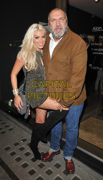 Leah Newman &amp; Neil &quot;Razor&quot; Ruddock attend the Sugarbabes interactive website launch &amp; The Sugarbabes TV series trailer premiere, Alon Zakaim Gallery, Dover Street, London, England, UK, on Wednesday 18 November 2015. <br /> CAP/CAN<br /> &copy;CAN/Capital Pictures