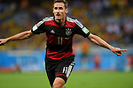 Miroslav Klose (GER),<br /> JULY 8, 2014 - Football / Soccer :<br /> Miroslav Klose of Germany celebrates after scoring his team's second goal during the FIFA World Cup Brazil 2014 Semi-finals match between Brazil 1-7 Germany at Estadio Mineirao in Belo Horizonte, Brazil. (Photo by FAR EAST PRESS/AFLO)