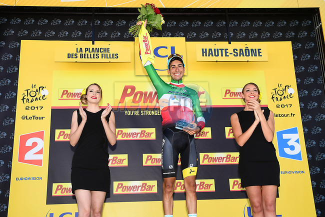Fabio Aru (ITA) Astana wins Stage 5 of the 104th edition of the Tour de France 2017, running 160.5km from Vittel to La Planche des Belles Filles, France. 5th July 2017.<br /> Picture: ASO/Alex Broadway | Cyclefile<br /> <br /> <br /> All photos usage must carry mandatory copyright credit (&copy; Cyclefile | ASO/Alex Broadway)