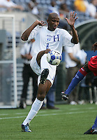 Allan Lalin brings down the ball. Honduras defeated Haiti 1-0 during the First Round of the 2009 CONCACAF Gold Cup at Qwest Field in Seattle, Washington on July 4, 2009.