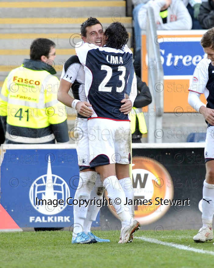 08/11/2009  Copyright  Pic : James Stewart.sct_jspa18_falkirk_v_celtic  . :: PEDRO MOUTINHO CELEBRATES AFTER HE SCORES FALKIRK'S SECOND :: .James Stewart Photography 19 Carronlea Drive, Falkirk. FK2 8DN      Vat Reg No. 607 6932 25.Telephone      : +44 (0)1324 570291 .Mobile              : +44 (0)7721 416997.E-mail  :  jim@jspa.co.uk.If you require further information then contact Jim Stewart on any of the numbers above.........