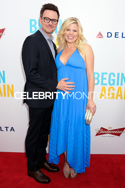 "NEW YORK CITY, NY, USA - JUNE 25: Brian Gallagher and Megan Hilty arrive at the New York Premiere Of The Weinstein Company's ""Begin Again"" held at the SVA Theatre on June 25, 2014 in New York City, New York, United States. (Photo by Celebrity Monitor)"