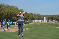 Luke List (USA) watches his tee shot on 7 during round 1 of the World Golf Championships, Dell Match Play, Austin Country Club, Austin, Texas. 3/21/2018.<br /> Picture: Golffile | Ken Murray<br /> <br /> <br /> All photo usage must carry mandatory copyright credit (&copy; Golffile | Ken Murray)