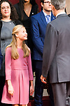 King Felipe VI, Queen Letizia, Princess of Asturias Leonor and Infant Sofia attend auddience in Oviedo because of Princess of Asturias Awards 2019. October 18, 2019 (Alterphotos/ Francis Gonzalez)