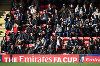 Maldon fans look on during Leyton Orient vs Maldon & Tiptree, Emirates FA Cup Football at The Breyer Group Stadium on 10th November 2019