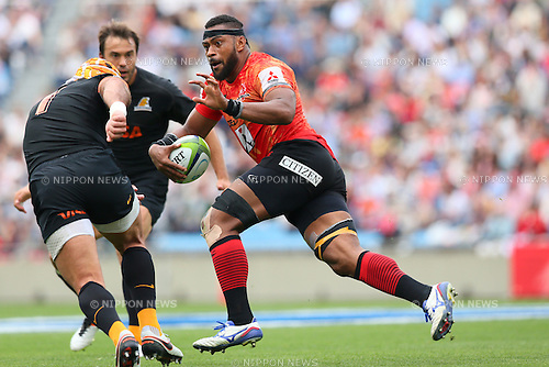 Andrew Durutalo (Sunwolves), <br /> APRIL 23, 2016 - Rugby : <br /> Super Rugby match between Sunwolves 36-28 Jaguares <br /> at Prince Chichibu Memorial Stadium in Tokyo, Japan. <br /> (Photo by Yohei Osada/AFLO SPORT)