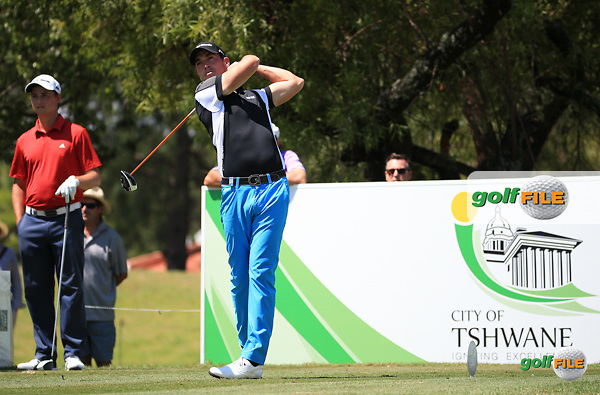 James Robinson (ENG) in action during Round Three of the 2016 Tshwane Open, played at the Pretoria Country Club, Waterkloof, Pretoria, South Africa.  13/02/2016. Picture: Golffile | David Lloyd<br /> <br /> All photos usage must carry mandatory copyright credit (&copy; Golffile | David Lloyd)