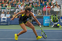 Palo Alto, CA - Wednesday, August 2, 2017: Garbiñe Muguruza defeated Kayla Day in straight sets 6-2 6-0 at the Bank of the West Classic at the Taube Family Tennis Stadium on the Stanford University campus.