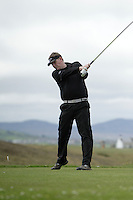 James McLoughlin (Portumna) during round 1 of The West of Ireland Amateur Open in Co. Sligo Golf Club on Friday 18th April 2014.<br /> Picture:  Thos Caffrey / www.golffile.ie