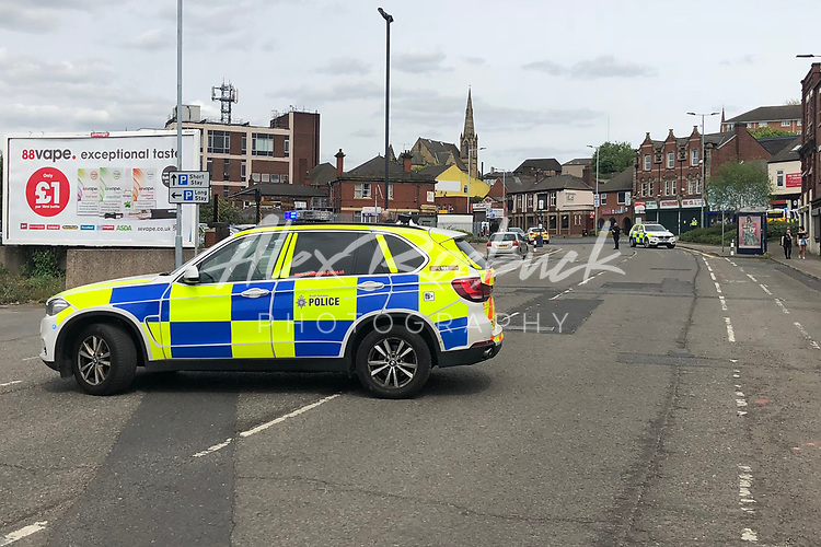 Armed Police and Air Ambulance called to an incident on Canklow Road in Rotherham Town. Armed Police and Air Ambulance called in to assist at an incident at a property on Canklow Road, Rotherham.<br /> <br /> Wednesday 9th May 2018