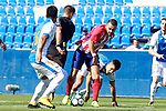 CD Leganes' Mauro Dos Santos (l), Unai Bustinza (c-r) and Javier Eraso (r), Atletico de Madrid's Keidi Bare (c-l) and the referee Carlos Del Cerro Grande during friendly match. August 12,2017. (ALTERPHOTOS/Acero)