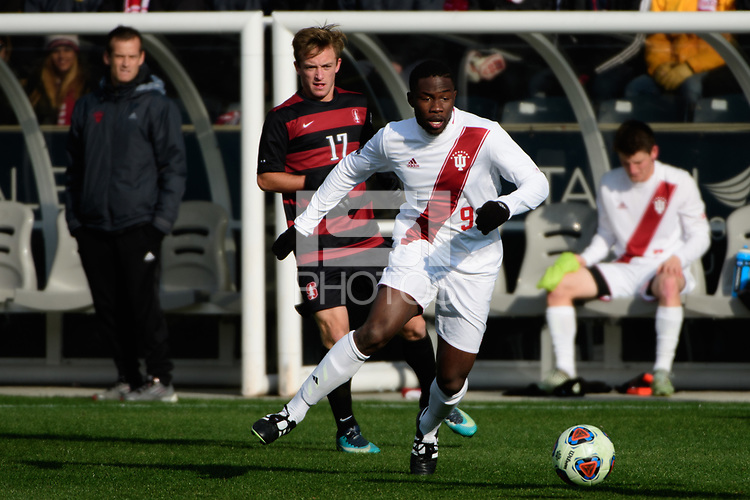 Chester, PA - Sunday December 10, 2017: Rashad Hyacenth. Stanford University defeated Indiana University 1-0 in double overtime during the NCAA 2017 Men's College Cup championship match at Talen Energy Stadium.