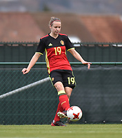 20171123 - TUBIZE , BELGIUM : Belgian Lore Vanschoenwinkel pictured during a friendly game between the women teams of the Belgian Red Flames and Russia at complex Euro 2000 in Tubize , Thursday  23 October 2017 ,  PHOTO Dirk Vuylsteke | Sportpix.Be