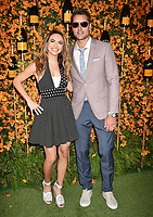 PACIFIC PALISADES, CA - OCTOBER 06: Justin Hartley (R) and Chrishell Hartley arrive at the 9th Annual Veuve Clicquot Polo Classic Los Angeles at Will Rogers State Historic Park on October 6, 2018 in Pacific Palisades, California.<br /> CAP/ROT/TM<br /> &copy;TM/ROT/Capital Pictures