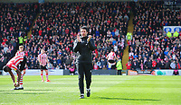 Lincoln City manager Danny Cowley applauds the fans prior to the game<br /> <br /> Photographer Chris Vaughan/CameraSport<br /> <br /> The EFL Sky Bet League Two - Lincoln City v Cheltenham Town - Saturday 13th April 2019 - Sincil Bank - Lincoln<br /> <br /> World Copyright &copy; 2019 CameraSport. All rights reserved. 43 Linden Ave. Countesthorpe. Leicester. England. LE8 5PG - Tel: +44 (0) 116 277 4147 - admin@camerasport.com - www.camerasport.com