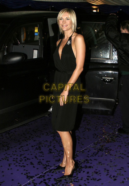 JENNI FALCONER.British Comedy Awards 2004, London Television Studios, London, December 22nd 2004..full length jenny little black halterneck dress brooch broach.Ref: AH.www.capitalpictures.com.sales@capitalpictures.com.©Capital Pictures.