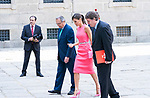 Queen Letizia of Spain meets with Directors of Instituto Cervantes in Escorial Monastery.  July 23, 2019. (ALTERPHOTOS/Francis Gonzalez)
