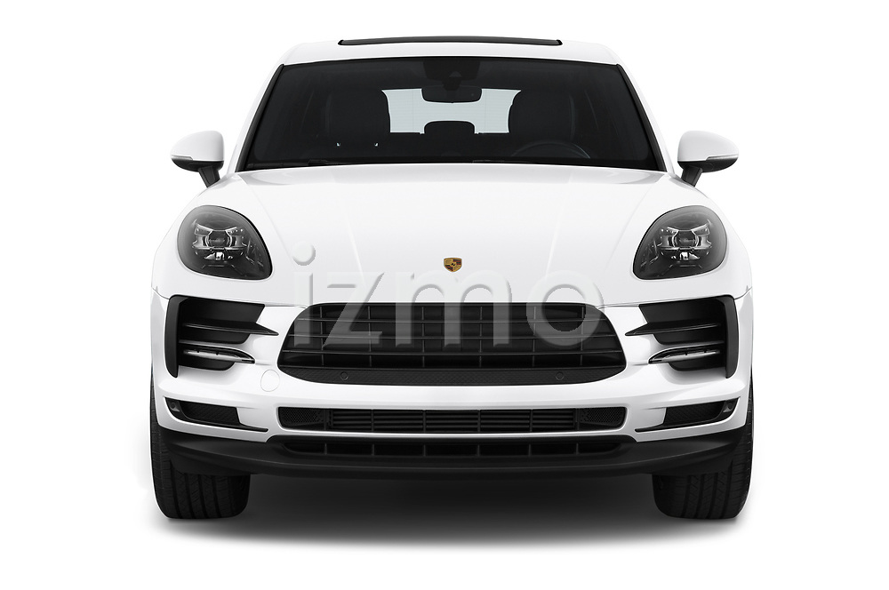 Car photography straight front view of a 2019 Porsche Macan Base 5 Door SUV