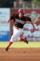 Batavia Muckdogs outfielder Mike O'Neil (26) during a game vs. the Lowell Spinners at Dwyer Stadium in Batavia, New York July 16, 2010.   Batavia defeated Lowell 5-4 with a walk off RBI single in the bottom of the 9th inning.  Photo By Mike Janes/Four Seam Images