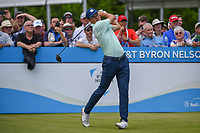 Jordan Spieth (USA) watches his tee shot on 1 during round 1 of the AT&T Byron Nelson, Trinity Forest Golf Club, Dallas, Texas, USA. 5/9/2019.<br /> Picture: Golffile | Ken Murray<br /> <br /> <br /> All photo usage must carry mandatory copyright credit (© Golffile | Ken Murray)