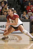 28 October 2005: Katie Goldhahn during Stanford's 3-0 win over Oregon State in Stanford, CA.