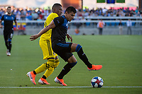 San Jose, CA - Saturday August 03, 2019: Nick Lima #24 in a Major League Soccer (MLS) match between the San Jose Earthquakes and the Columbus Crew at Avaya Stadium.