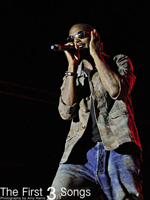 Bobby Ray Simmons Jr., better known by his stage name B.o.B. performs during the Beale Street Music Festival in Memphis, TN on April 29, 2011.