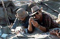 Jurassic Park (1993)<br /> Laura Dern and Sam Neill dig for fossils<br /> *Filmstill - Editorial Use Only*<br /> CAP/KFS<br /> Image supplied by Capital Pictures