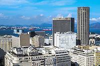 RIO DE JANEIRO, RJ, 31 JULHO 2012 - VISTA AEREA DO CENTRO DO RIO- Vista aerea do centro da cidade do Rio de Janeirol,nesta terca-feira, dia 31, no centro do rio.(FOTO:MARCELO FONSECA / BRAZIL PHOTO PRESS).