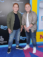 """01 August 2016 - Hollywood, California. Benjamin Royer, Matthew Royer. World premiere of """"Nine Lives"""" held at the TCL Chinese Theatre. Photo Credit: Birdie Thompson/AdMedia"""