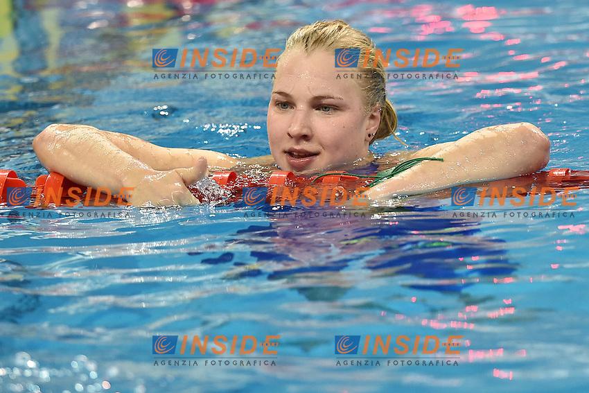 Ruta Meilutyte LTU Women's 50m Breaststroke <br /> Doha Qatar 03-12-2014 Hamad Aquatic Centre, 12th FINA World Swimming Championships (25m). Nuoto Campionati mondiali di nuoto in vasca corta.<br /> Photo Andrea Staccioli/Deepbluemedia/Insidefoto