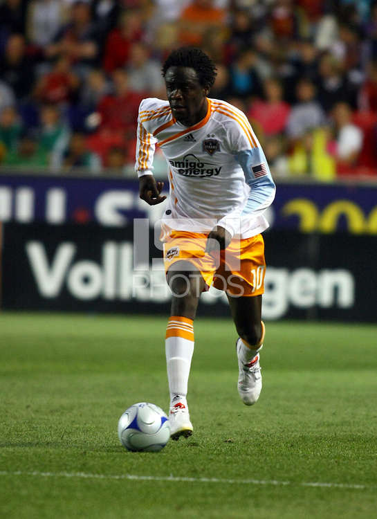 Kei Kamara in the Real Salt Lake v Houston 0-0 draw win at Rio Tinto Stadium in Sandy, Utah on August 15, 2009
