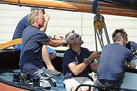 ZEILEN: EARNEWALD, 22-07-2014, SKS skûtsjesilen, SWH schipper Auke de Groot, ©foto Martin de Jong
