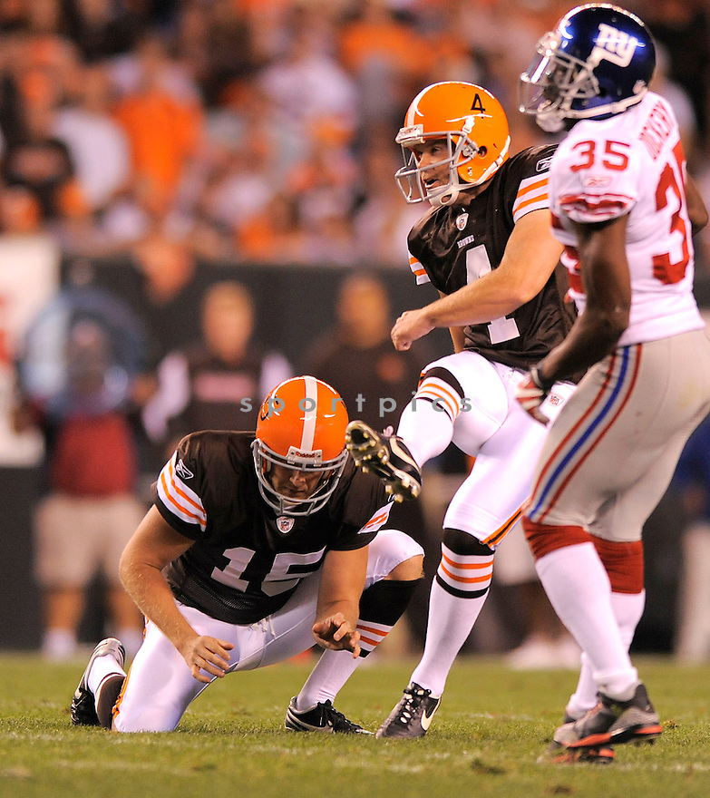 PHIL DAWSON, of the Cleveland Browns in action against the New York Giants during the Brown game in Cleveland, OH on October 13, 2008/.. The Browns won the game 35-14